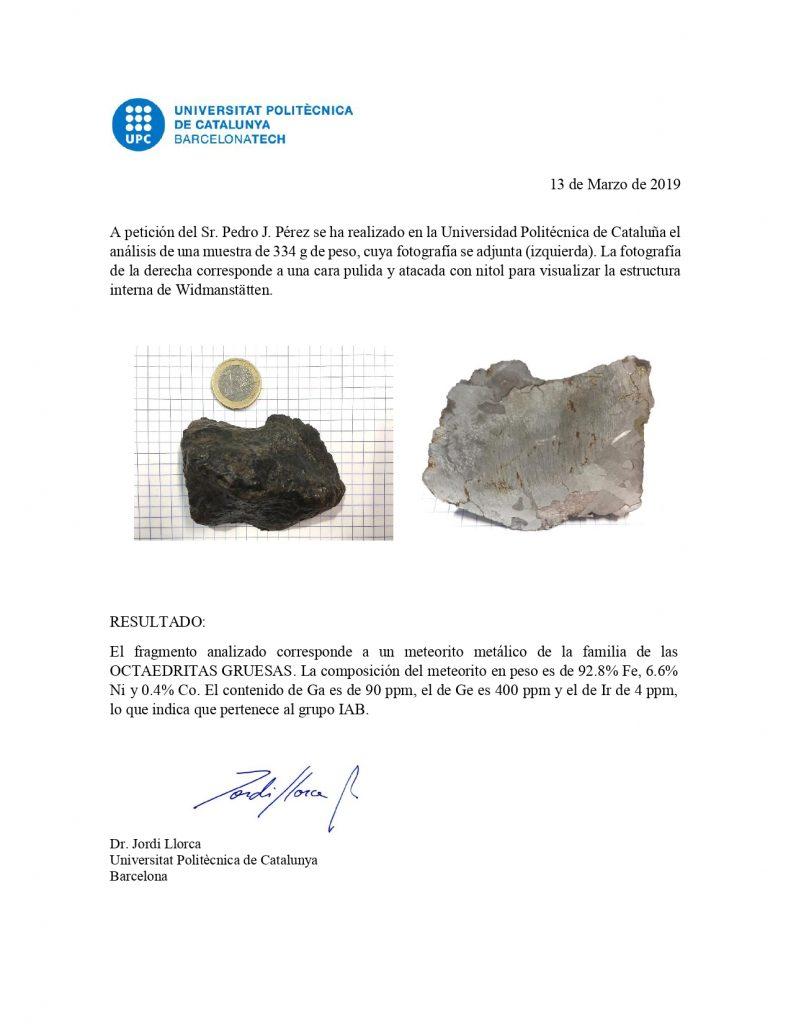 Meteorito Metálico Auténtico - Certificado de Autenticidad 1